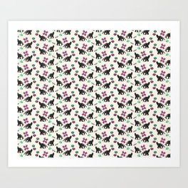 Anteaters and Flowers Art Print
