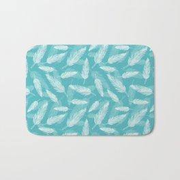 Seamless feathers pattern Bath Mat