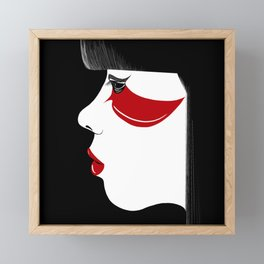 Modern Geisha Framed Mini Art Print