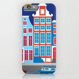 Amsterdam, Netherlands - Skyline Illustration by Loose Petals iPhone Case