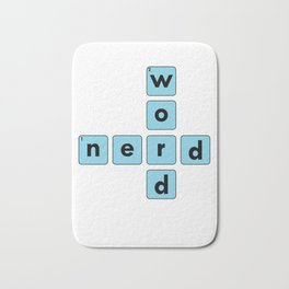 Nerd Word Crossword Puzzle Geek Numbered Squares Puzzlers Thinking Gift Bath Mat