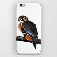 falcon iPhone & iPod Skins featuring Falcon by Gracie Illustration