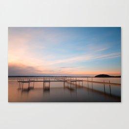 Saratoga Lake Sunset Canvas Print