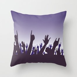 Audience Reaction Throw Pillow