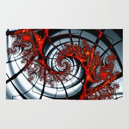Fractal Art - Burning Web Rug