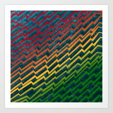 Zag [Rainbow] Art Print