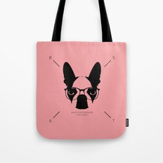 Hipster Boston Terrier Tote Bag