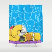 homer Shower Curtains featuring Depress Homer is Not... by wedrawpop