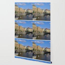 Sunny Day in Prague - View from Legion Bridge Wallpaper