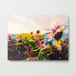 Colorful Sunflowers Metal Print