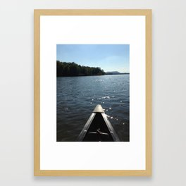 Canoe Love Framed Art Print