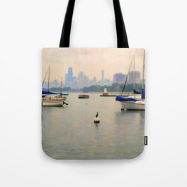 Lake by the City Tote Bag