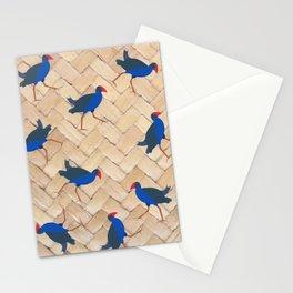 Pukeko Birds on Flax Weave Stationery Cards