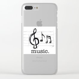 Music From The Heart Clear iPhone Case