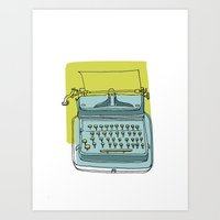 write Art Prints featuring Write! by Phillip Wells