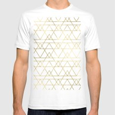 Modern Gold Mens Fitted Tee SMALL White