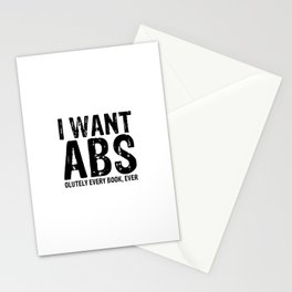 I Want Abs...olutely Every Book Ever Stationery Cards