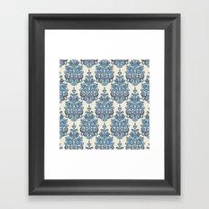 Akash damask ikat Framed Art Print
