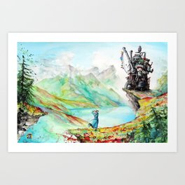 """Into my dreams"" Art Print"