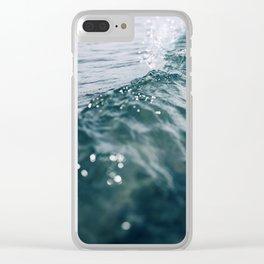 Blue Crush #3 Clear iPhone Case