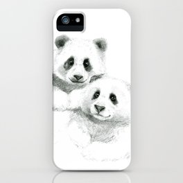 Giant Panda sketch SK064 iPhone Case
