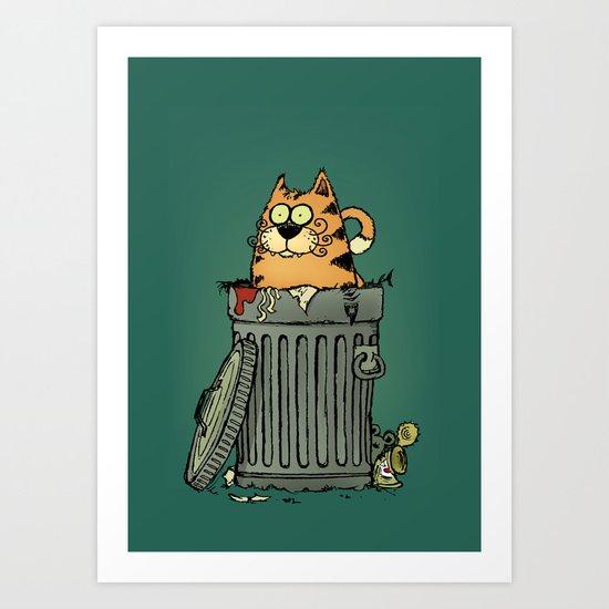 Stray cat Art Print
