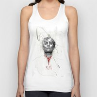 house of cards Tank Tops featuring House of Cards - Claire Underwood by teokon