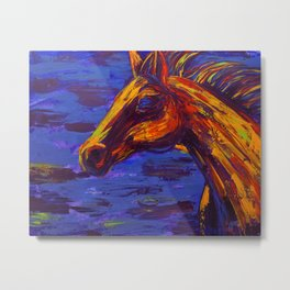 Free to Run Metal Print