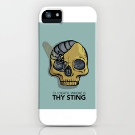 Death where is thy sting iPhone Case