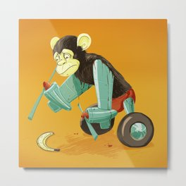 Airplane monkey could use more R&D Metal Print