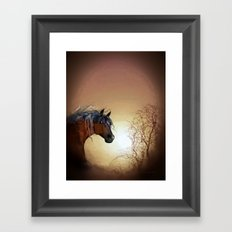 HORSE - Misty Framed Art Print