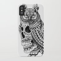 bioworkz iPhone & iPod Cases featuring Great Horned Skull by BIOWORKZ