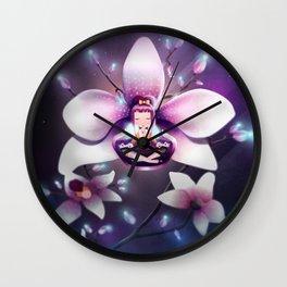 Orchid Meditation Wall Clock