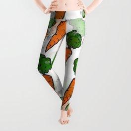 Carrot Popart by NIco Bielow Leggings