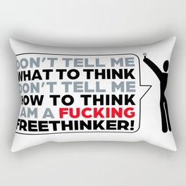 the Freethinker Rectangular Pillow