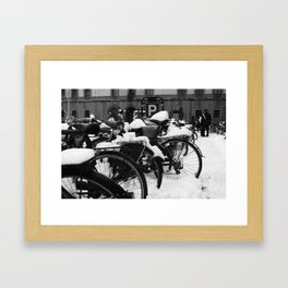 No cycling today Framed Art Print