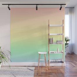 Pastel Rainbow Gradient Pattern Wall Mural