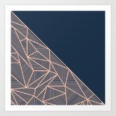 B Rays Geo 1 Art Print