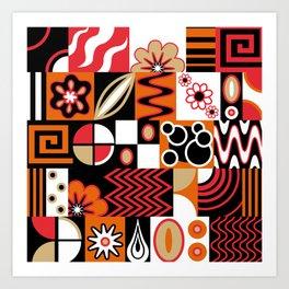 Retro Potpourri Art Print