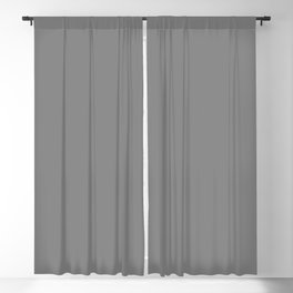 Darker Gray Solid Color Blackout Curtain