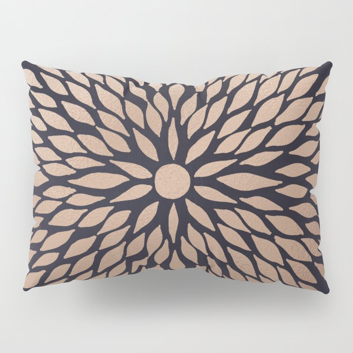 Rose Gold Flower Pillow Sham