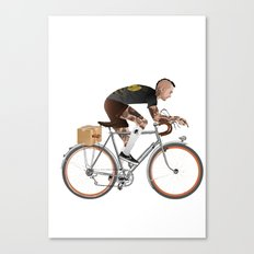 Bike Driver Canvas Print