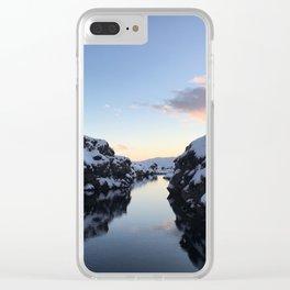 Secret Dock at Þingvellir Clear iPhone Case