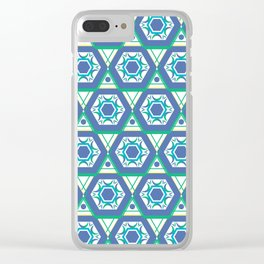 Geometric Shapes 4 Clear iPhone Case