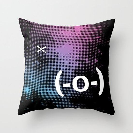 Typospacechase Throw Pillow