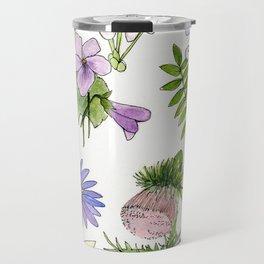 Botanical garden woodland wildflower nature art study Travel Mug