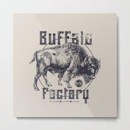 BUFFALO FACTORY  Vintage Buffalo Metal Print