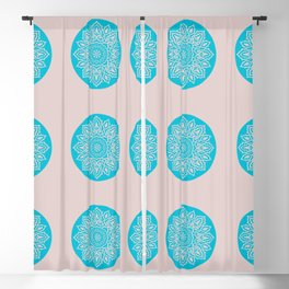 Happy Mandala Pattern Blackout Curtain