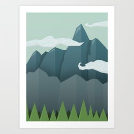 Mountains & Clouds Art Print