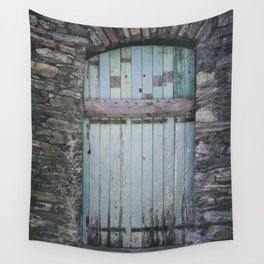 Old Blue Door II Wall Tapestry